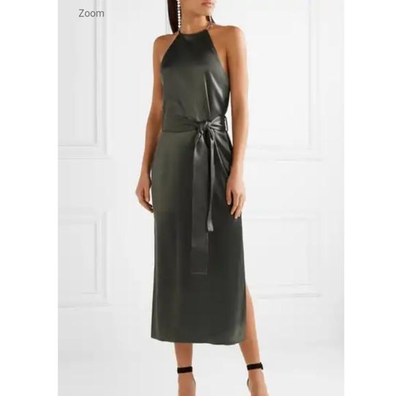 dcb759e59c29 Halston Heritage Dresses | Satin Maxi Dress Charcoal Size Xs | Poshmark